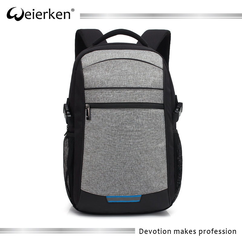 Weierken 2018 high tech contrast color slim laptop antitheft backpack