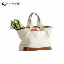 Large Capacity Creative Style canvas Leather Bag
