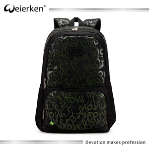 waterproof oxford green special printed school bags samples