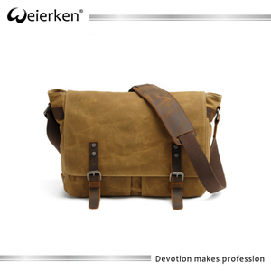 Custom Blank Strong canvas messenger shoulder bag
