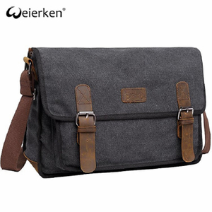 Comfortable Office Durable Mens Leather Messenger Bag