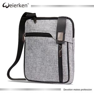 Business 2017 laptop bag grey briefcase handbag polyester shoulder messenger bags for men