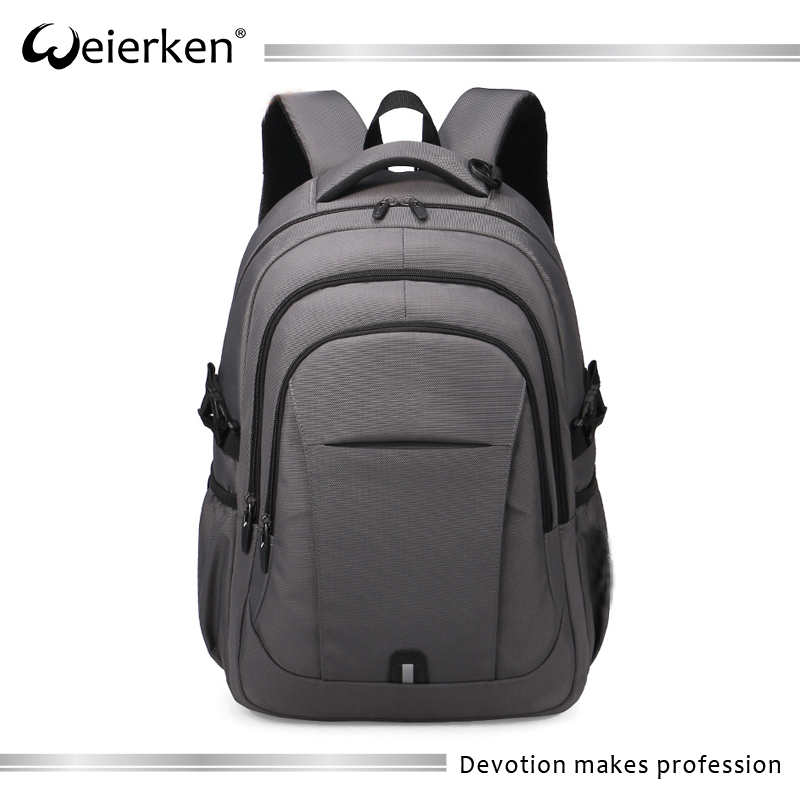 Waterproof grey back pack laptop stylish travel backpack bag