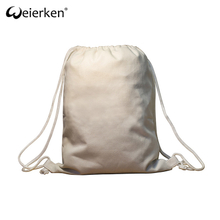 Europe Design Roomy Business Cotton Drawstring Bag