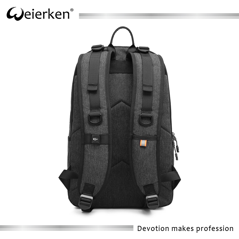 Fashion new shoulder strap design backpack with carbon lining