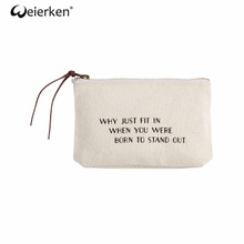 Durable Creative Style Canvas Cosmetic Bag