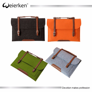 Sale wool felt laptop case cover with handle