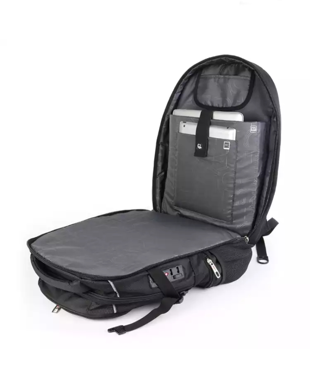 Waterproof Nylon Swiss Gear Style Laptop Backpack Notebook Bag Rucksack Outdoor