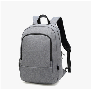 Gray polyester big capacity USB casual laptop backpack in stock