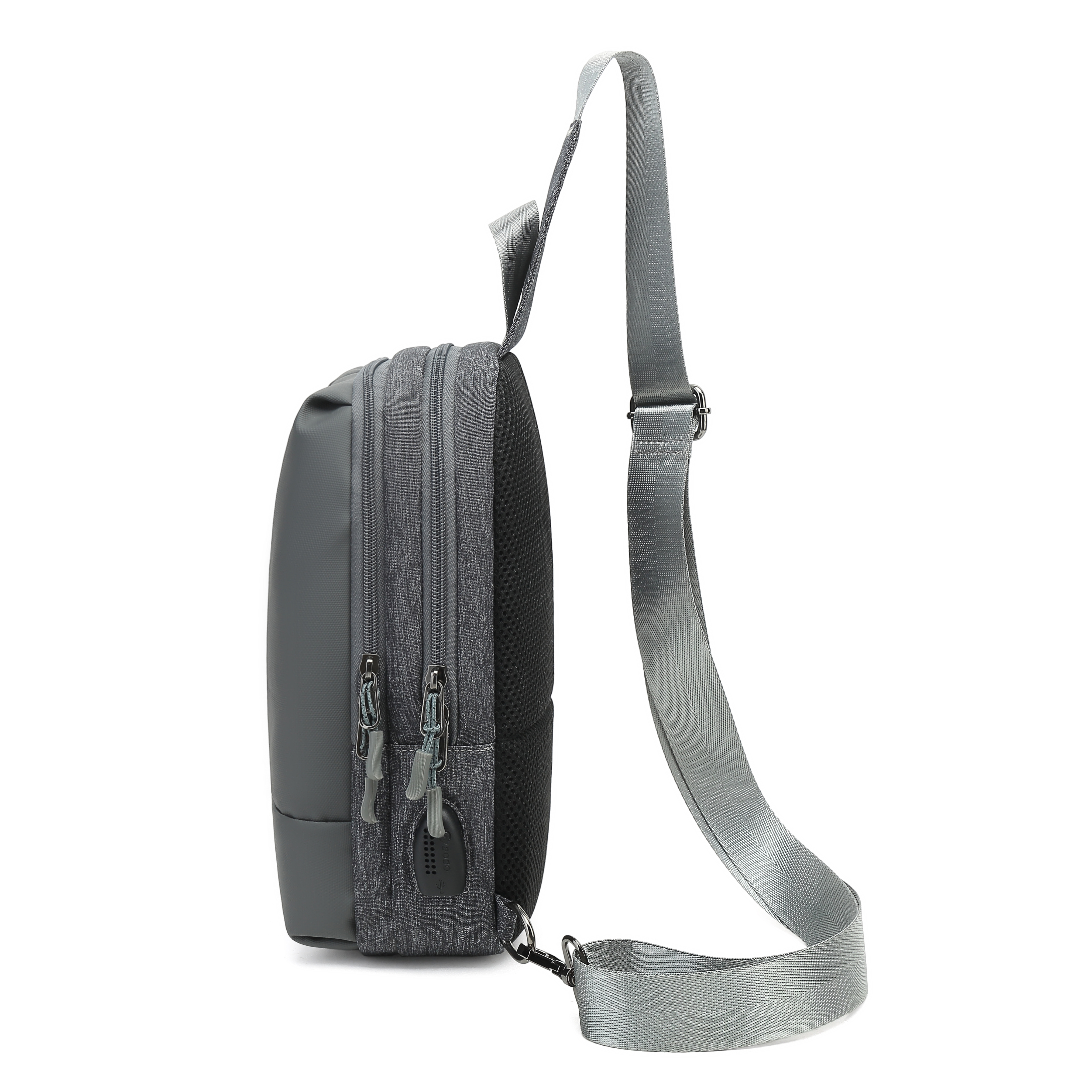 Gray Outdoor men's sling crossbody bag for Ipad