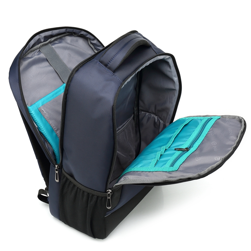 Blue big capacity Poso business laptop backpack in stock