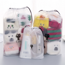 High Quality Drawstring Bag Waterproof Clear Packing Cubes with PU